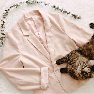 {frenchi} blush blazer